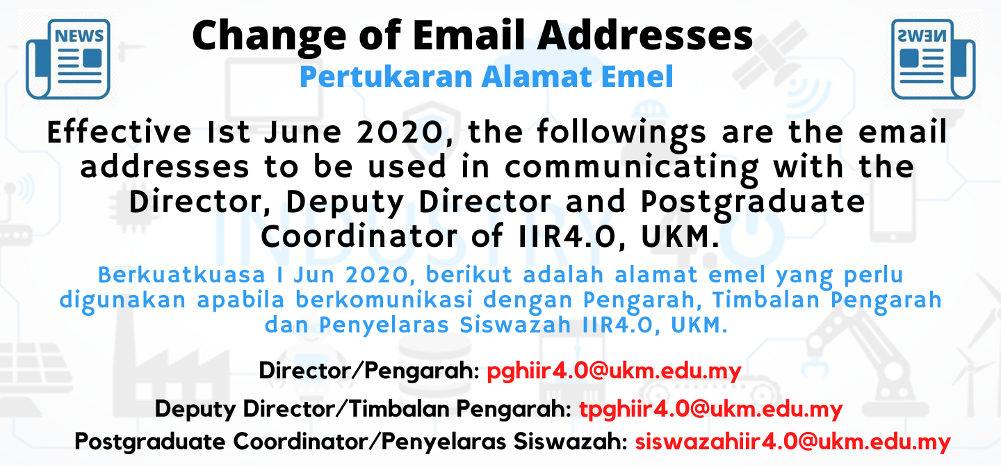Change of Email Addresses